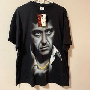 Vintage 90s Scarface big face graphic t shirt